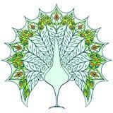 Illustrazione del pavone Immagine Stock
