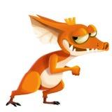 Illustrazione del personaggio dei cartoni animati: Il ladro rosso Monster della pelle Fotografia Stock