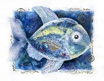 Illustrazione del pesce Fotografia Stock Libera da Diritti