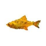 Illustrazione del pesce astratto del mosaico isolato su backgroun bianco Immagini Stock Libere da Diritti