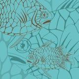 Illustrazione del pesce esotico della pigna Fotografia Stock