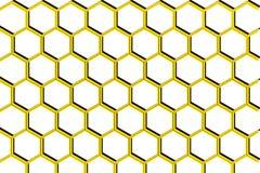 Illustrazione del pettine del miele su fondo bianco illustrazione di stock