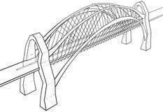 Illustrazione del ponte Fotografia Stock Libera da Diritti
