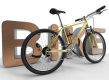 Illustrazione del primo piano della bici illustrazione vettoriale