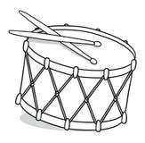 Illustrazione del profilo del tamburo Fotografia Stock