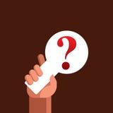Illustrazione del punto interrogativo su fondo marrone astratto Fotografia Stock Libera da Diritti