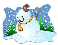 Illustrazione del pupazzo di neve Fotografia Stock Libera da Diritti