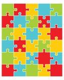 Illustrazione del puzzle variopinto Immagini Stock Libere da Diritti