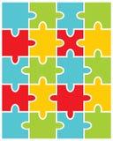 Illustrazione del puzzle variopinto Fotografie Stock Libere da Diritti