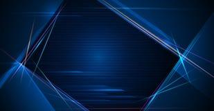 Illustrazione del raggio luminoso, linea della banda con luce blu, fondo di moto di velocità illustrazione di stock