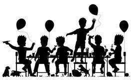 Illustrazione del ritaglio dei ragazzi del partito Immagine Stock