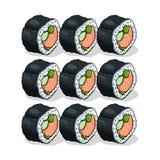 Illustrazione del rotolo di sushi Fotografia Stock Libera da Diritti