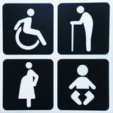 Illustrazione del segno della toilette immagini stock libere da diritti