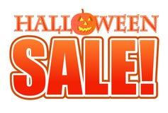 Illustrazione del segno di vendita della zucca di Halloween Fotografie Stock