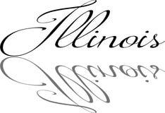 Illustrazione del segno del testo di Illinois Fotografia Stock Libera da Diritti