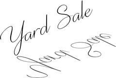 Illustrazione del segno del testo di vendita di oggetti usati royalty illustrazione gratis