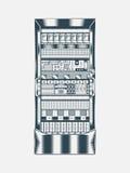 Illustrazione del server di rete Immagine Stock Libera da Diritti