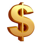 Illustrazione del simbolo di dollaro Fotografia Stock