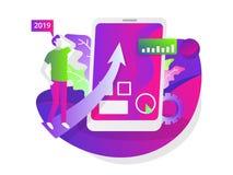 Illustrazione del sito Web sociale di affari di media illustrazione vettoriale