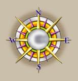 Illustrazione del sole della bussola Fotografia Stock Libera da Diritti