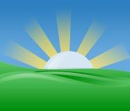 Illustrazione del sole di mattina Fotografie Stock Libere da Diritti