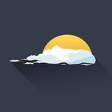 Illustrazione del sole e della nuvola Fotografia Stock