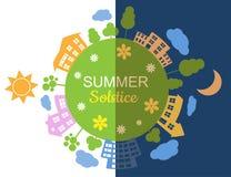 Illustrazione del solstizio di estate Fotografia Stock Libera da Diritti