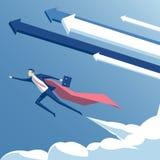 Illustrazione del superman dell'uomo d'affari Fotografie Stock