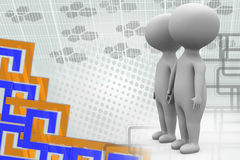 illustrazione del supporto delle coppie 3d Immagine Stock