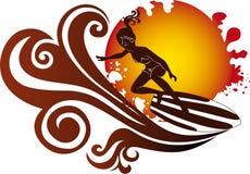 Illustrazione del surfista Fotografia Stock Libera da Diritti