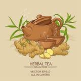Illustrazione del tè dello zenzero Fotografia Stock