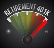 illustrazione del tachimetro di pensionamento 401k Fotografie Stock Libere da Diritti