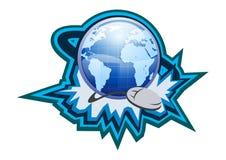 Illustrazione del tasto di simbolo del Internet Fotografia Stock Libera da Diritti