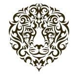 Illustrazione del tatuaggio di vettore del leone Fotografia Stock Libera da Diritti