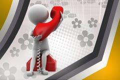 illustrazione del telefono dell'uomo 3d Immagine Stock Libera da Diritti