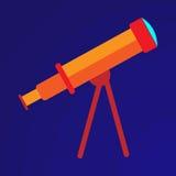 Illustrazione del telescopio arancio Fotografia Stock Libera da Diritti
