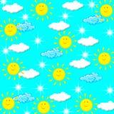 Illustrazione del tempo di giorno soleggiato Immagini Stock Libere da Diritti