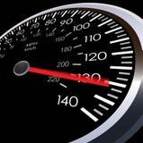 Illustrazione del tester di velocità dell'automobile Immagini Stock