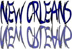 Illustrazione del testo di New Orleans Immagine Stock Libera da Diritti