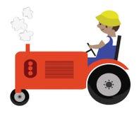 Illustrazione del trattore illustrazione vettoriale