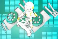 illustrazione del tubo del robot 3d Fotografia Stock Libera da Diritti