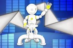 illustrazione del tubo del robot 3d Immagine Stock Libera da Diritti