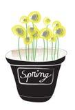 Illustrazione del vaso di fiore Immagine Stock