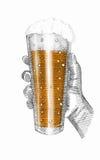 Illustrazione del vetro di birra Immagine Stock