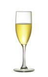 Illustrazione del vetro realistico del champagne isolato sulla parte posteriore di bianco Immagine Stock Libera da Diritti