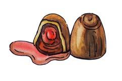 Illustrazione deliziosa del cioccolato Fotografie Stock
