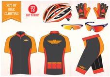 Illustrazione dell'abbigliamento della bicicletta o della bici, facile modificare Fotografia Stock