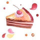 Illustrazione dell'acquerello Fotografie Stock