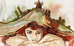 Illustrazione dell'acquerello illustrazione vettoriale