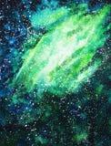 Illustrazione dell'acquerello dell'aurora boreale royalty illustrazione gratis